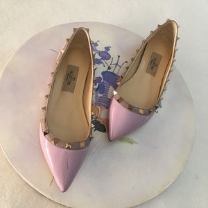 Authentic Valentino Rock-stud Ballerina Flats Sz37